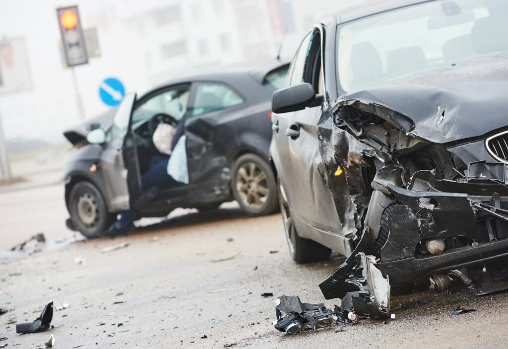 car accident scene personal injury law