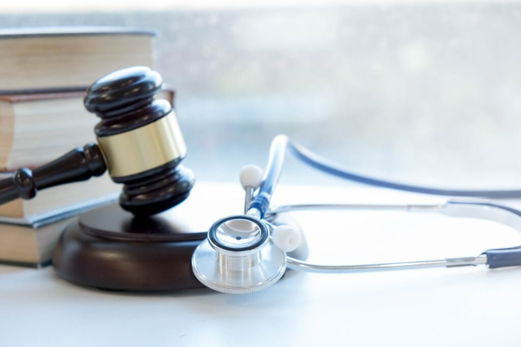 Gavel and stethoscope representing Jacksonville Personal Injury Laywers